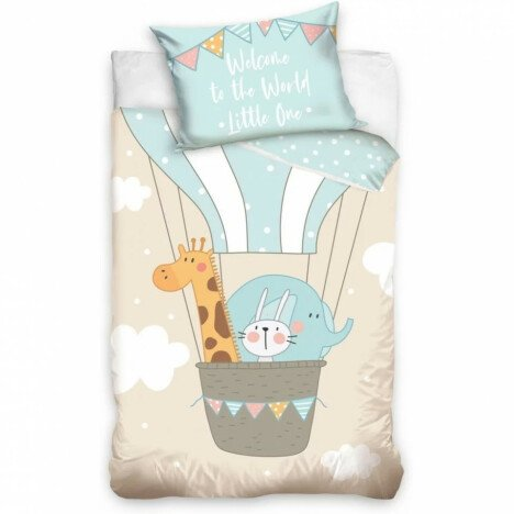 Set lenjerie pat copii Animals Little One